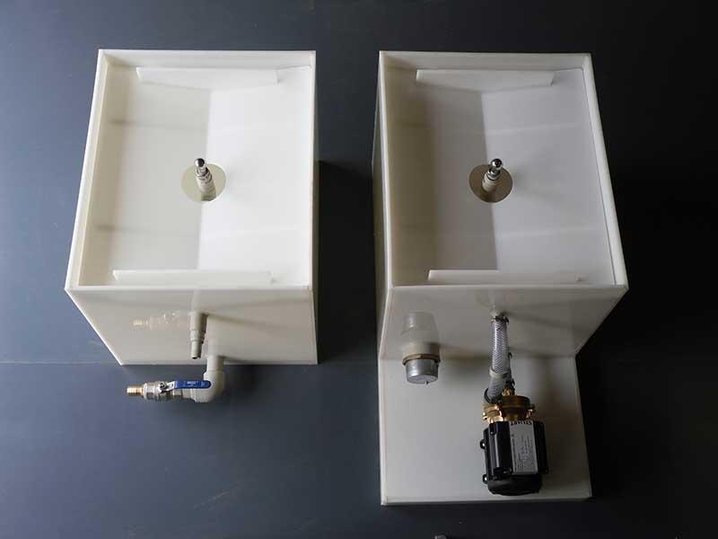 Sterilization and prewash/rinse singular cask washers with platform
