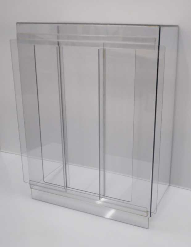 Polycarbonate guard with sliding doors