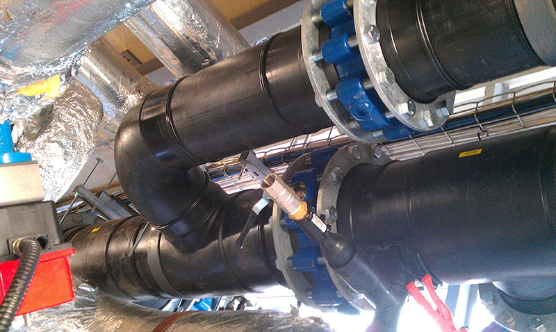 HDPE process water pipework butt welded