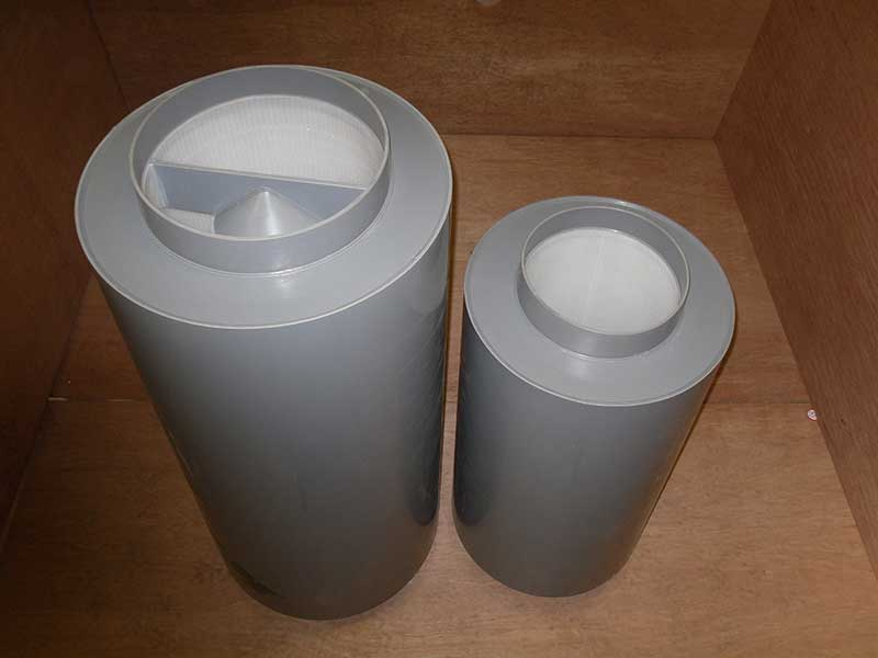 Fire Retardent Polypropylene circular podded and unpodded attenuators