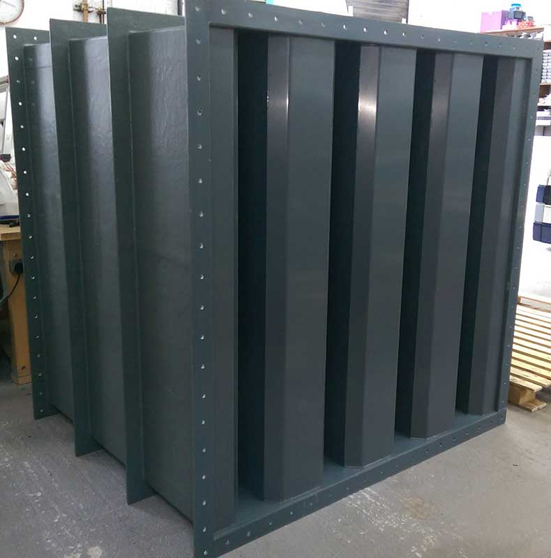 UPVC / GRP rectangular podded attenuator