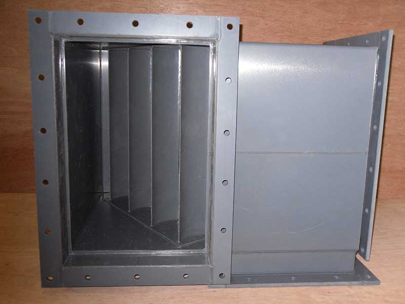 UPVC flanged tee showing air turns