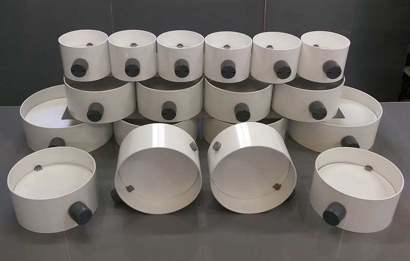 UPVC white dampers fabricated